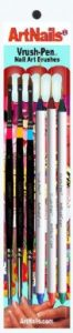 Vrush-Pen™  a Set of 6, SML+Flat+Ang+Dagger brushes, #100